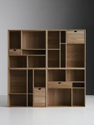 design of bookshelf furniture. natural finish cherry wood modern bookcases which has four storage drawers of inexpensive scandinavian bookshelves with charmingly design and furniture bookshelf l