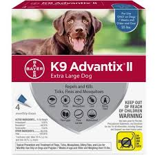 4 Month K9 Advantix Ii Blue For Extra Large Dogs Over 55 Lbs