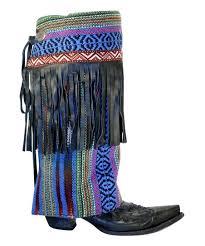 blue black fringe riot boot rugs