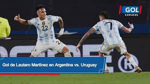 Goal by Lautaro Martínez Argentina vs. Uruguay – South American Qualifiers  – Gol Caracol