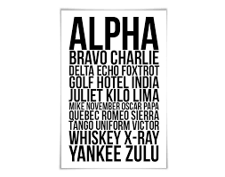 Featuring all the alphabet codes for flight with a black airplane illustration at the top, this tin sign will be a pilot's absolute favorite addition to a favorite room. Amazon Com Alpha Bravo Charlie Art Print 60 Colours 6 Sizes Phonetic Alphabet Poster Aviation Nato Military Pilot Airplane Army Handmade