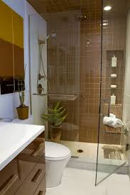 bathroom cool small bathroom decoration featuring shower room frameless glass walls and white toilet bidet