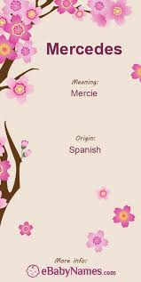 Mercedes meaning, mercedes popularity, mercedes hieroglyphics, mercedes numerology, and other interesting facts. Meaning Of Mercedes Mercedes Is A Spanish Word Meaning Mercies