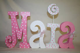 nice ideas wooden letters for baby nursery perfect initial alphabet modern sample pink white concrete color