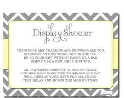 Display Shower Card Baby Shower Invitation Girl InsertDisplay Baby Shower Wording