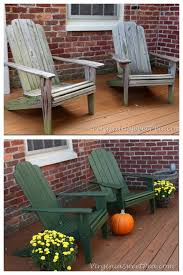 wooden outdoor furniture painted. Adirondack Chair Makeover Wooden Outdoor Furniture Painted O
