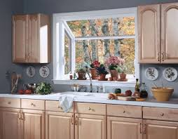 Comfortable Bay Window Over Kitchen Sink With Single Faucet 9530