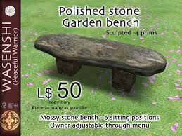 oriental outdoor furniture. Polished Stone Garden Bench Oriental Outdoor Furniture R