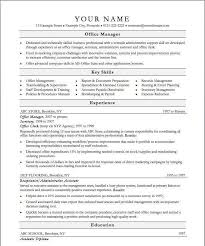 Office Manager Resume Sample Beauteous Resume For Office Manager Unique Example Fice Manager Resume