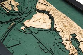 West Galveston Bay Depth Chart Galveston 3d Nautical Wood Chart 13 5 X 43