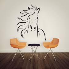horse mustang wall decal art decor sticker vinyl mural 57cmx71cm in wall stickers from home garden on aliexpress alibaba group on horse wall decor stickers with horse mustang wall decal art decor sticker vinyl mural 57cmx71cm in