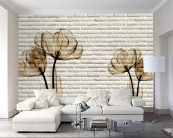 Beibehang Behang Mode Tulp 3d Bric Tv Muur Papel De Parede Para