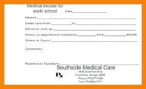 How To Make Fake Doctor Notes For Work A Doctors Note Best School 1
