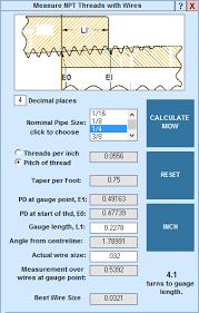 Machinists Calculator Measure Npt Threads