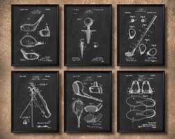 marvelous golf wall art new trends etsy set of 6 golf vintage print or canvas patent on golf wall art near me with homely design golf wall art modern home metal alluring is my bag
