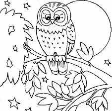 Cute Owl Coloring Pages Printable Page Free Ayushseminarmahainfo