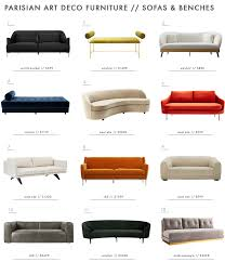 deco style furniture. emily henderson parisian art deco furniture sofas roundup style c