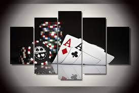 poker canvas wall art