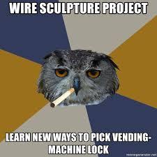Pick Vending Machine Lock Gorgeous Wire Sculpture Project Learn New Ways To Pick Vendingmachine Lock