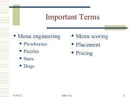 Menu Analysis Engineering382