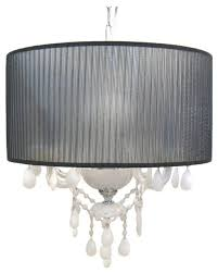 trans globe the versailles chandelier bohemian crystal black white