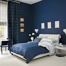 Foxy Blue And Black Bedroom Design And Decoration Using Blue Navy Unique  Bedroom Paint Colors Including Accent Pattern Blue Bedroom Curtain And  Upholstered ...