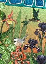 Painted Quilts, artist Bernie Rowell, quilted wall hangings ... & The Natural World Adamdwight.com