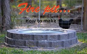 how to make a fire pit using retaining wall blocks plus galvanised rim