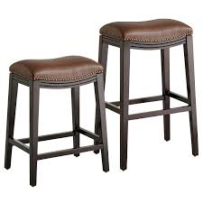 halsted pecan brown backless counter bar stool pier 1 brown leather backless bar stools jaeden backless brown leather bar stools