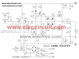 100 watt dc servo lifier circuit by power mosfet 100w dc servo lifier circuit using power