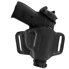 Bianchi 105 Minimalist Size 12 Right Hand Belt Slide Holster For Many Smith Wesson Pistols Black Leather