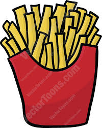 french fries clip art. French Fries Cartoon Clipart Throughout Clip Art