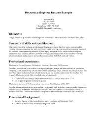 Entry Level Mechanical Engineering Resume Sample Theseventh Co