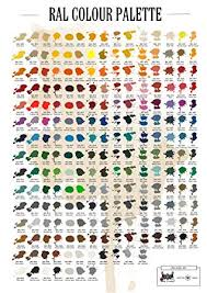 Ral Color Chart Amazon Ral Colour Palette Fabrication Roofing Bending Welding