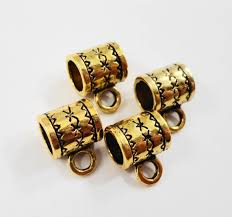 gold jewelry bails 10x8mm antique gold bails large bails charm bracelet bails necklace pendant bails jewelry making findings 10pcs