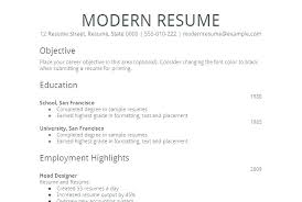 Basic Resumes Templates Simple Ms Word Resume Template Spacesheep Co