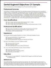 objectives in resume example dental hygienist objectives cv sample myperfectcv