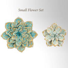 fl garden wall accents blue small set of 2