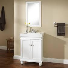 White Mirrored Bathroom Cabinets 24 Lander Vanity White Bathroom