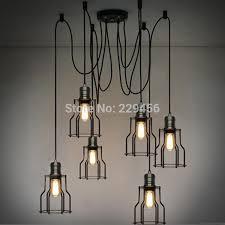 industrial lighting pendants. Loft Industrial Vintage Edison Bulb Pendant Light Living Room Bedroom Metal Frame Lamparas Lustre E27 110 240V-in Lights From \u0026 Lighting On Pendants O