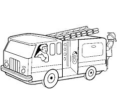 Disegno Di Pompieri Sul Camion Da Colorare Acolorecom