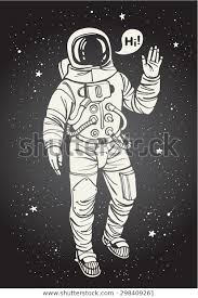 Vector de stock (libre de regalías) sobre Astronauta en el espacio con la298409261