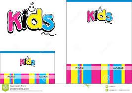 Kids Learning Center School Education Logo Business Card Flyer