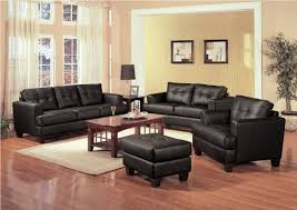 Living Rooms With Black Furniture Leather Living Room Furniture With Decorative Room Leather