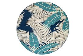 inch round outdoor rug palm beach aqua navy rugs 8x10 blue
