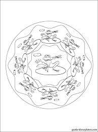Mandala Met Kikkers Gratis Kleurplaten