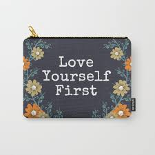 Love Yourself First Quotes Amazing Love Yourself First Quote CarryAll Pouch By Seesantana Society48