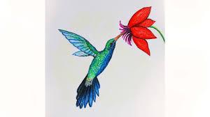 уроки рисования как нарисовать птицу колибри пастелью как