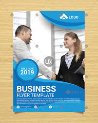 014 Free Blue Wavy Corporate Business Flyer Template Design