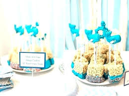 gold foil boy baby shower cake